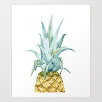 Pineapple Topper Art Print by All Is One