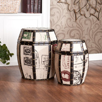 Wildon Home ® Mullins Vintage Storage Drum (Set of 2)