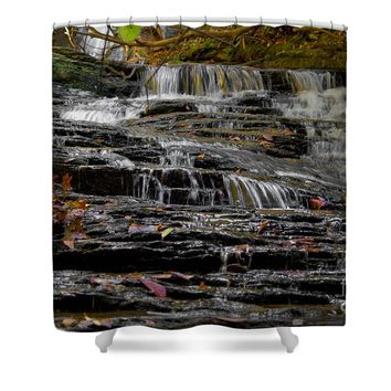 Waterfall In Hanging Rock State Park Shower Curtain