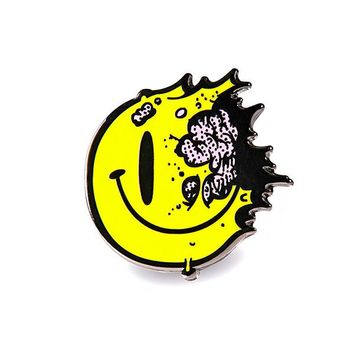 Tony Riff Smiley Face Pin