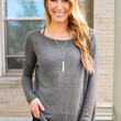 Simple And Soft Sweater Charcoal