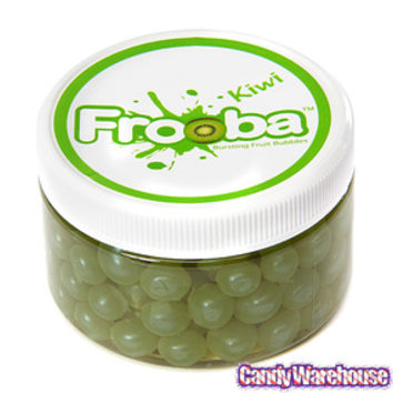 Kiwi Frooba Bursting Fruit Bubbles Jars: 10-Piece Case | CandyWarehouse.com Online Candy Store