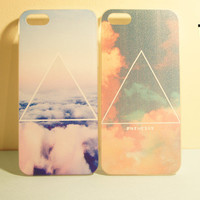 TuT TuT Fashion — Printed Galaxy Cosmic Triangle Iphone 5