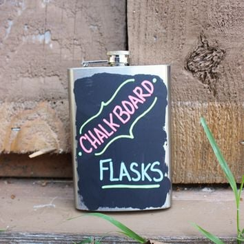 Hand-Painted Chalkboard Flask - 8oz