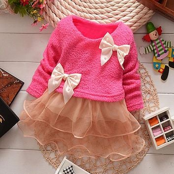 Anlencool 2017 Baby clothing high quality baby clothing spring new Korean girls dress sweet organza dress woven baby dress
