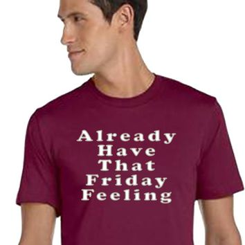 That Friday Feeling, Unisex Style, Jersey Tee, Trendy Tee, Weekend Shirt, Casual Shirt, Classic Tee, Tumblr, Office Shirt, Work Shirt, Funny