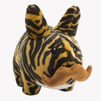 NEW TIGER Kidrobot Labbit 14 plush stuffed animal bunny w/ mustache RETAIL $40