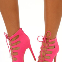 So Good So Far Heels: Hot Pink