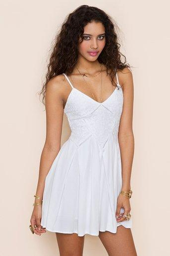 Kitka Dress - White in Clothes Dresses at Nasty Gal