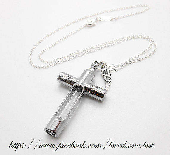 Womens Necklace, Cremation Jewellery From LovedOnesLost On