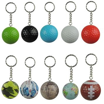 Hot! Golf  ball with keychain sports gift golf ball