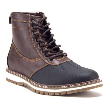 Men's Weatherproof Urban Fashion Contrast Zipped Ankle High Duck Boots