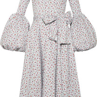 Caroline Constas - Gisele off-the-shoulder printed cotton-blend poplin dress