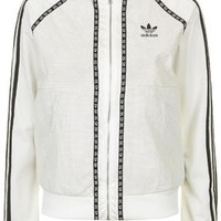 Premium Superstar Track Jacket by Topshop for adidas Originals - White