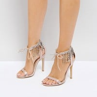 Truffle Collection Wedding Embellished Heeled Sandals at asos.com