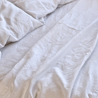 Linen Duvet Cover in White by IN BED