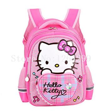 School Backpack New Fashion Hello Kitty Girls School Bags Kids Backpack Bag For Children AT_48_3
