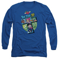 Teen Titans Go! T Collage Mens Long Sleeve T-Shirt