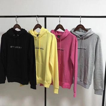 DCCKI2G Stussy Woman Men Fashion Embroidery Hoodie Top Sweater Pullover