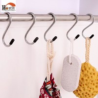 "CUSHAWFAMILY 4 pcs/lot stainless steel ""S"" hooks Powerful Clothing Hanger Clasp Rack Sundry Hanging Hook Bathroom Kitchen Holder"