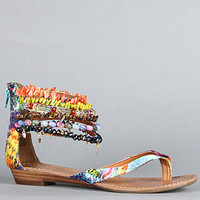 Zigi Shoes The Must Have Sandal in Turquoise Multi : Karmaloop.com - Global Concrete Culture