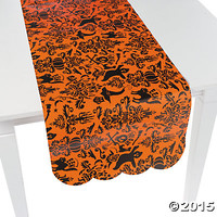 Orange & Black Table Runner