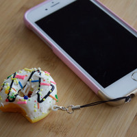 Kawaii Doughnut Charm SQUISHY / Donut dust plug / Phone charm / Cute