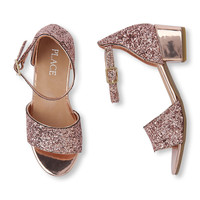 Girls Glitter Sandal Mini Heel | The Children's Place