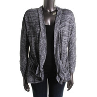 INC Womens Plus Glow Metallic Marled Cardigan Sweater