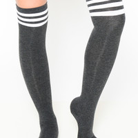 Jersey Girl Knee High Striped Socks