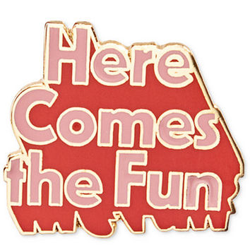 ban.do Here Comes The Fun Enamel Pin, A Macy's Exclusive Style - Handbags & Accessories - Macy's
