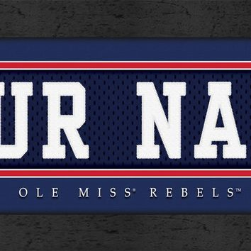 Ole Miss Rebels | Jersey Stitch | Personalized | Nameplate Print | Framed