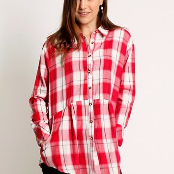 West Street Plaid Blouse