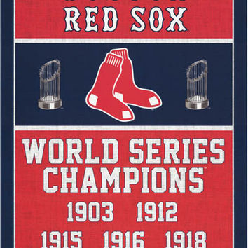 Boston Red Sox World Series Champions Poster 22x34