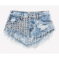 Bel Air Acid Studded Babe Shorts