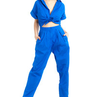 Vintage 80's Mechanic Barbie Jumpsuit - S