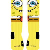 Custom SpongeBob Socks Custom Nike Elites