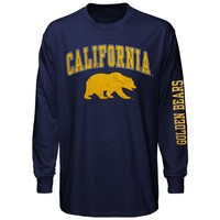 Cal Bears Big Arch & Logo Long Sleeve T-Shirt - Navy Blue