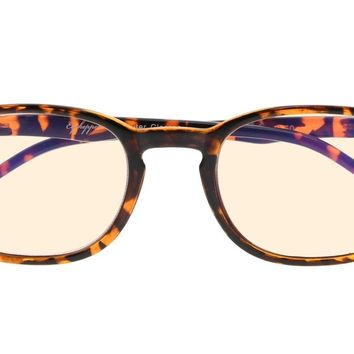 Eyekepper Vintage Computer Glasses-Anti-reflective,Anti-glare,Uv Protection (Amber Tinted Lenses 30% Blue Light Blocking, Tortoise)