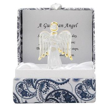 Small Messenger Guardian Angel Glass Figurine Gift