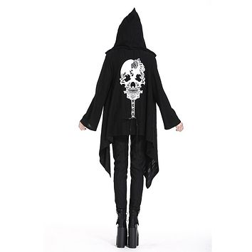 Women's Goth Hooded Skull Jacket