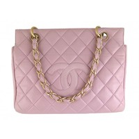 Chanel Purple/Pink Lambskin PTT Petite Timeless Tote Bag