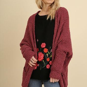 Umgee Boho Cozy Cardigan Sweater with Pockets