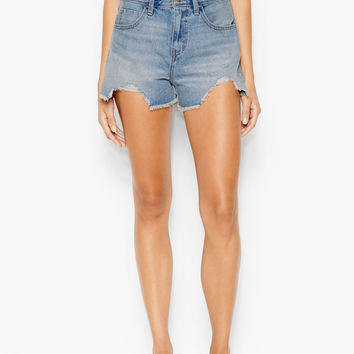 Levi's Juniors High Waist Destroyed Denim Shorts Size 5