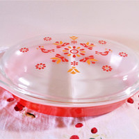 Pyrex Friendship Divided Dish, Pyrex Friendship 1063