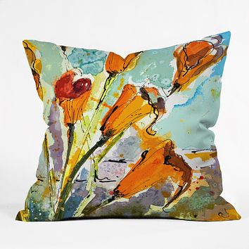 Ginette Fine Art Autumn Lilies Throw Pillow