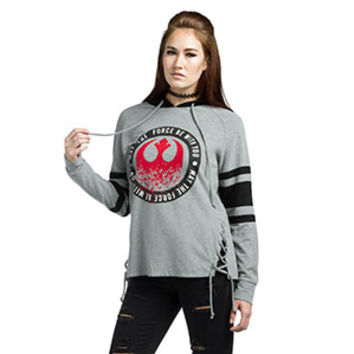 Star Wars Force Varsity Ladies' Lace-Up Hoodie