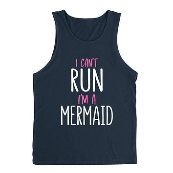 I can't run I'm a mermaid, funny mermaid saying, Mermaid hair, funny graphic Tank Top