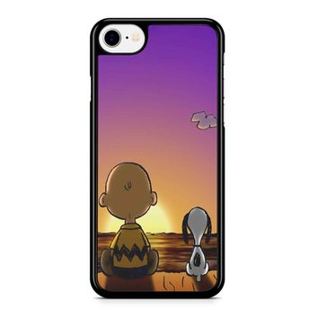 Snoopy And Charlie Brown Sunset Iphone 8 Case
