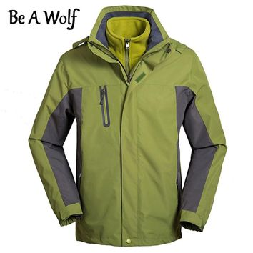 Be A Wolf Winter Heated Waterproof Jackets Men Women Outdoor Camping Fishing Hiking Clothing Rain Skiing Jacket Windbreaker 900